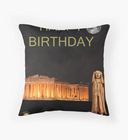 The Scream World Tour Athens Happy Birthday Throw Pillow