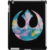 Watercolor Rebel Alliance (black) iPad Case/Skin
