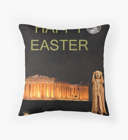 The Scream World Tour Athens Happy Easter Throw Pillow