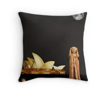 The Scream World Tour Sydney Throw Pillow