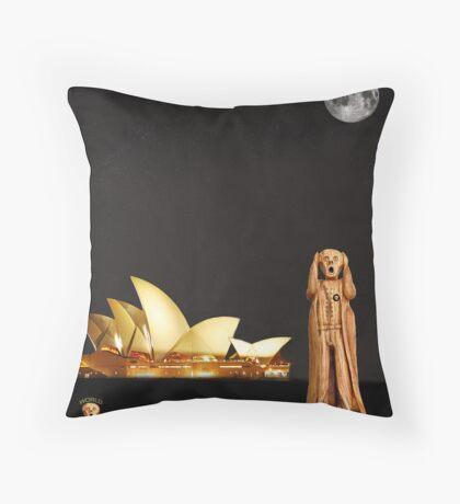 The Scream World Tour Sydney Throw Pillow
