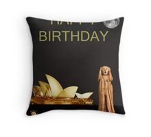 The Scream World Tour Sydney Happy Birthday Throw Pillow