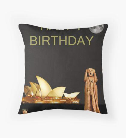 The Scream World Tour Sydney Happy Birthday Throw Pillow