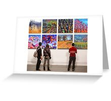 Eight Landscape Paintings Greeting Card