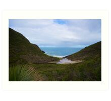 Valley to the Sea Art Print
