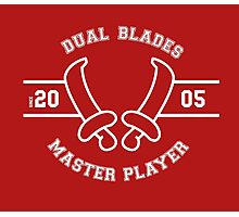 Dual Blades - Master Player Photographic Print
