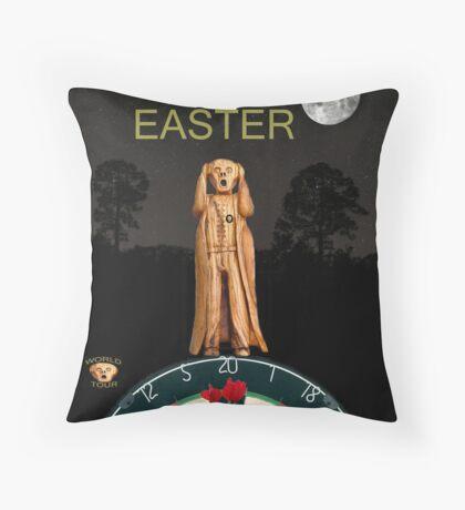 The Scream World Tour Darts Happy Easter Throw Pillow