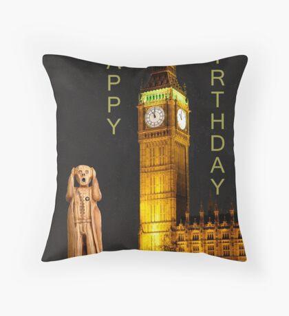 The Scream World Tour London Happy Birthday Throw Pillow