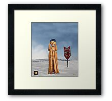 The Scream World Tour North Pole Framed Print