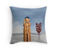 The Scream World Tour North Pole Throw Pillow