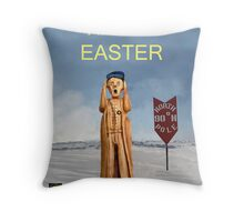 The Scream World Tour North Pole Happy Easter Throw Pillow