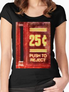 Push To Reject! Women's Fitted Scoop T-Shirt