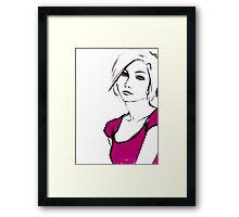 Pink Tee Framed Print