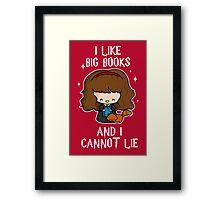 I Like Big Books - Brightest Witch Framed Print