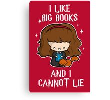 I Like Big Books - Brightest Witch Canvas Print