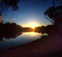 End of a Beautiful Day - The River Murray Above Renmark by Mark Richards