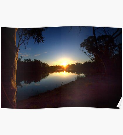 End of a Beautiful Day - The River Murray Above Renmark Poster
