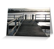 Sunset at the Jetty Greeting Card