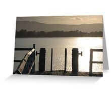 Bollards and Rails at Sunset Greeting Card