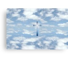 oh heavenly clouds of blue Canvas Print