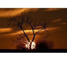 Fireball Sunset Photographic Print
