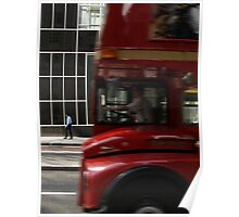 Bus and pedestrian Poster
