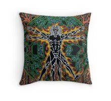 Vitreevian Man, Ink & Pencil Throw Pillow