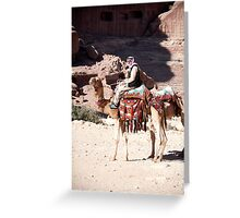 Bedouin and his camels Greeting Card