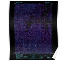 USGS Topo Map Oregon Williams 282106 1986 24000 Inverted Poster
