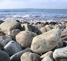 Irish pebble shore by morrbyte