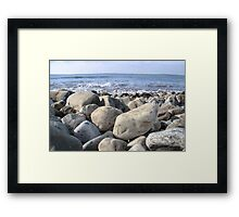 Irish pebble shore Framed Print