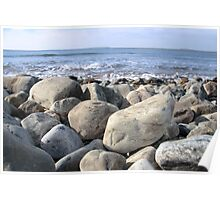 Irish pebble shore Poster