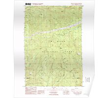 USGS Topo Map Oregon Bagby Hot Springs 278914 1985 24000 Poster