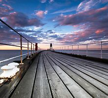 Whitby Pier by Dave Hudspeth