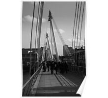 Black & White Bridge Poster