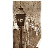 Old Police Sign Poster