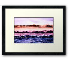 Rainbow waves Framed Print