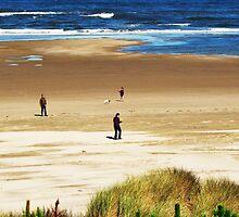 Beach Combers.....Neptune Beach. Yachats, Ore. by trueblvr