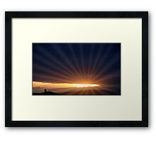 romantic light Framed Print