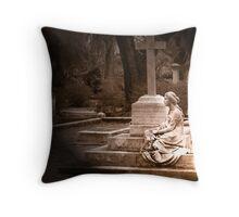 Statue - Bonaventure Cemetery in Savannah, GA Throw Pillow