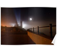 Reculver Towers in silhouette Poster
