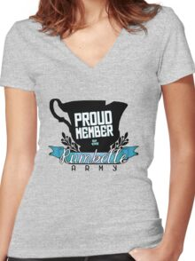 Rumbelle Army! Women's Fitted V-Neck T-Shirt