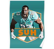 Ndamukong Suh - Miami Dolphins Poster