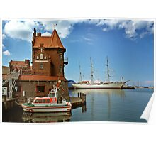 MVP64 Stralsund Harbour & Gorch Fock l, Germany. Poster