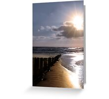 shore breaks Greeting Card
