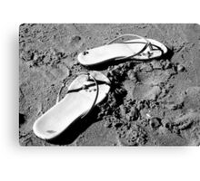 Sandals in the Sand Canvas Print