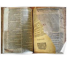 Lothrop Bible with Torn Page Poster