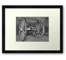 Old Cannon In Fort Point Framed Print