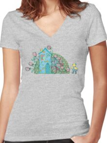 There's no place like home! Women's Fitted V-Neck T-Shirt