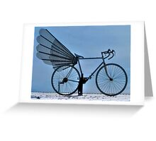 New Kind Of Transportation: Flying Bicycle Greeting Card